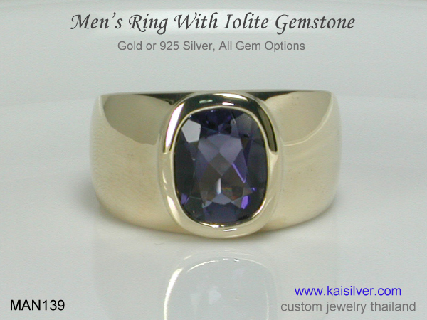 ring for men with iolite