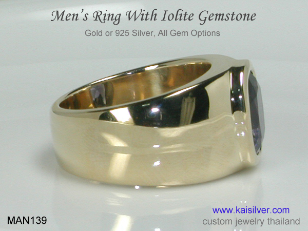men's gemstone ring kaisilver
