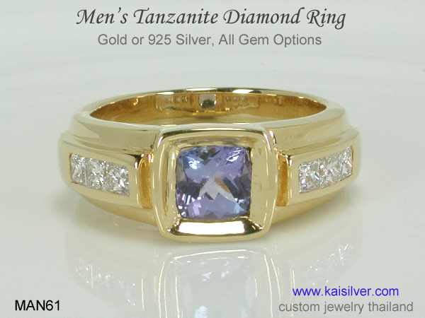 tanzanite diamond band