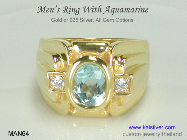 aquamarine ring for men
