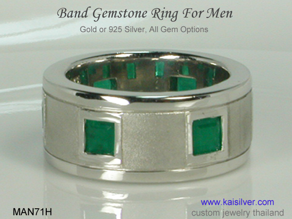 men's gemstone band