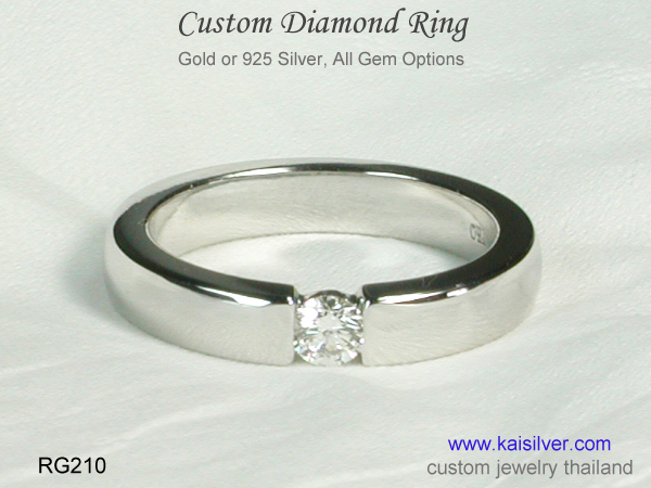 diamond band ring for men